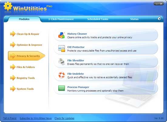 Tăng tốc máy tính với WinUtilities Pro 15.00, đang miễn phí trị giá 40USD