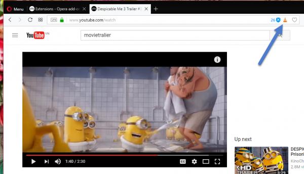 2017 08 19 16 25 39 600x343 - Click chuột mở ngay video YouTube trong VLC từ Opera