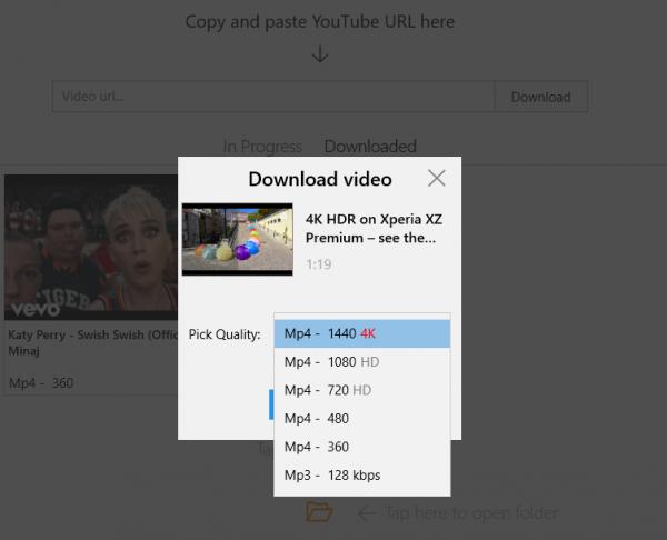 Ứng dụng UWP tải video YouTube trên Windows 10 (P 5)