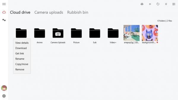 MEGA Privacy - quản lý và upload dữ liệu MEGA trên Windows 10