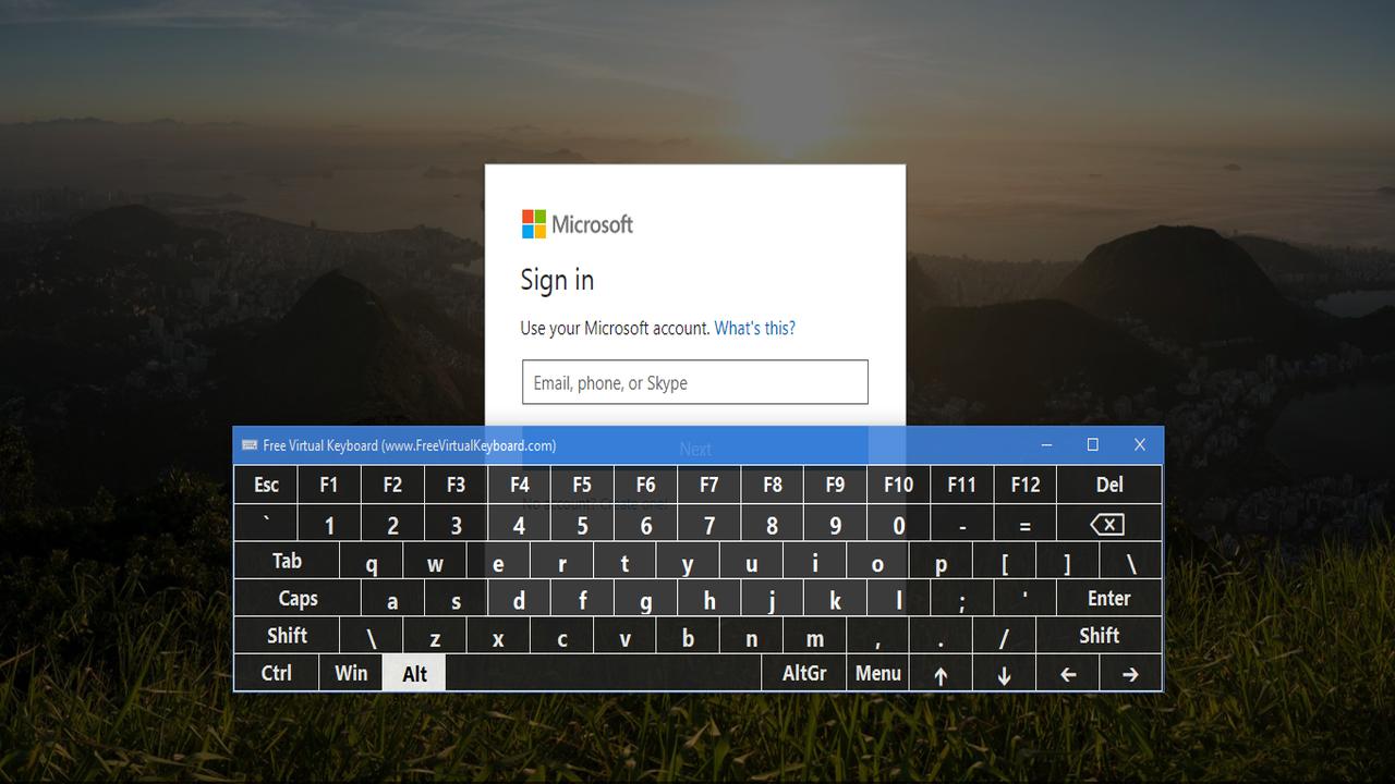 Free Virtual Keyboard - Cách tạo bàn phím ảo cho Windows 10
