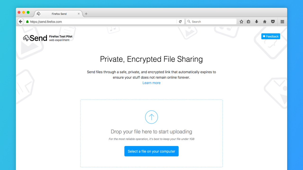 Cách gửi file dung lượng lớn qua Facebook bằng Firefox Send