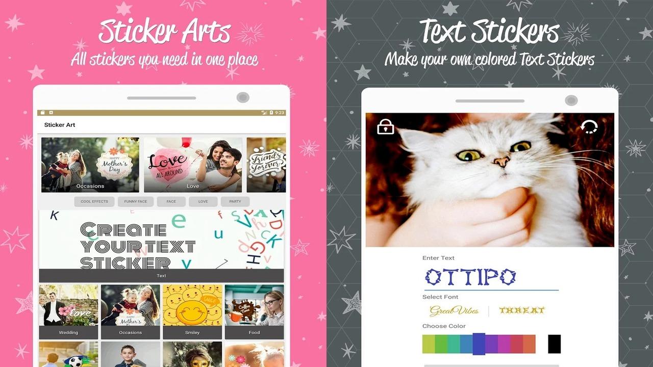 ottipo 1 - Phần mềm chỉnh sửa ảnh Android với 24 bộ sticker, hiệu ứng, khung ảnh