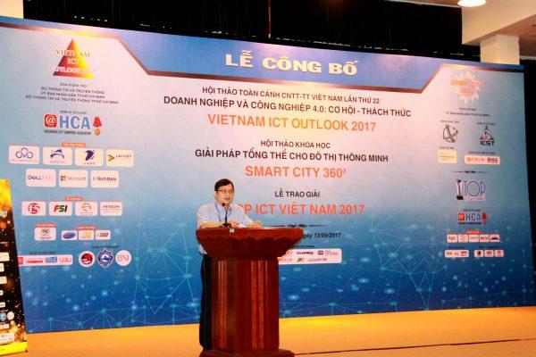 ng Lâm Nguyễn Hải Long Phó Chủ tịch HCA 2 600x400 - Hội thảo VIO 2017 bàn về công nghiệp 4.0 cho doanh nghiệp