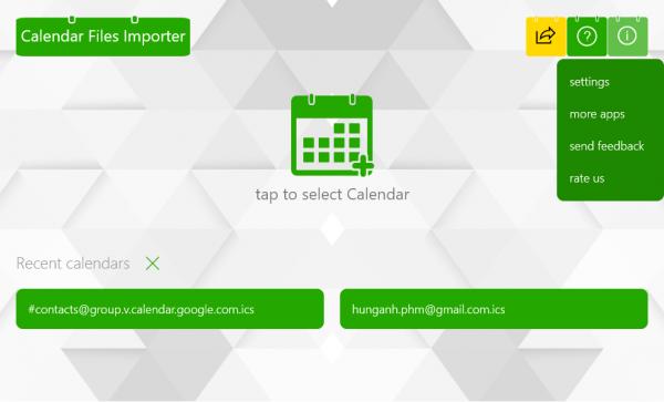 2017 09 15 13 44 37 600x363 - Calendar Files Importer: Ứng dụng nhập lịch sự kiện vào Google, Outlook đang miễn phí trên Windows 10