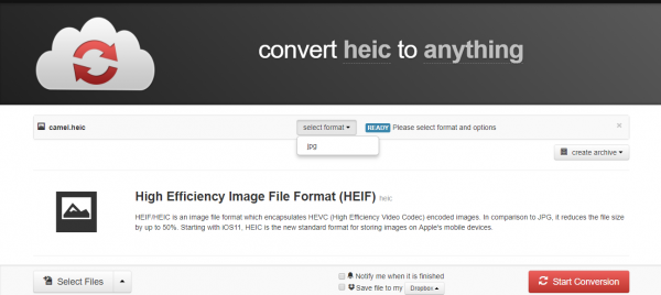 How to view HEIC files, change the HEIC extension on Android, iOS 10 and Windows 5