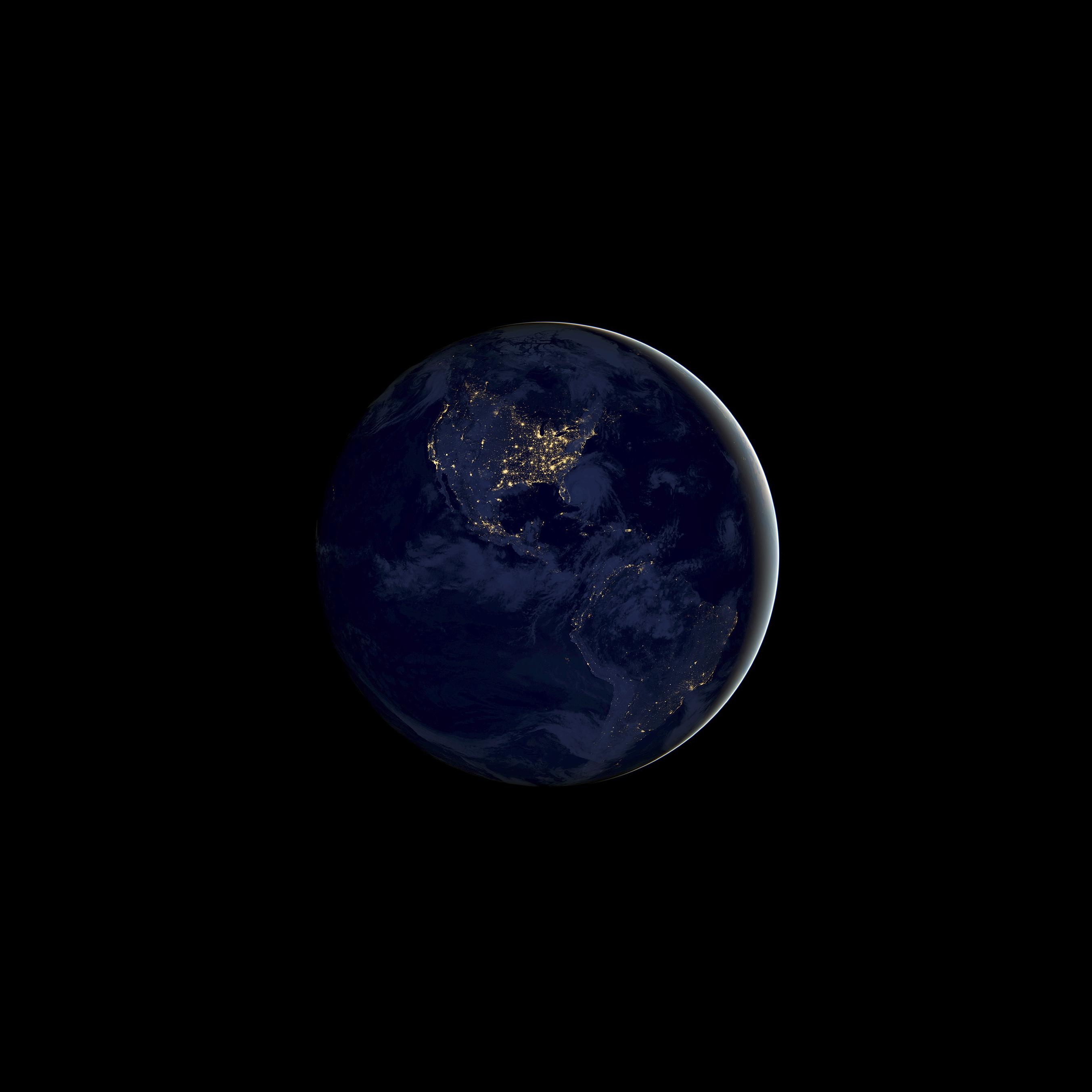 Earth Night iOS 11 GM iPhone wallpapers - Trọn bộ hình nền mới của iOS 11