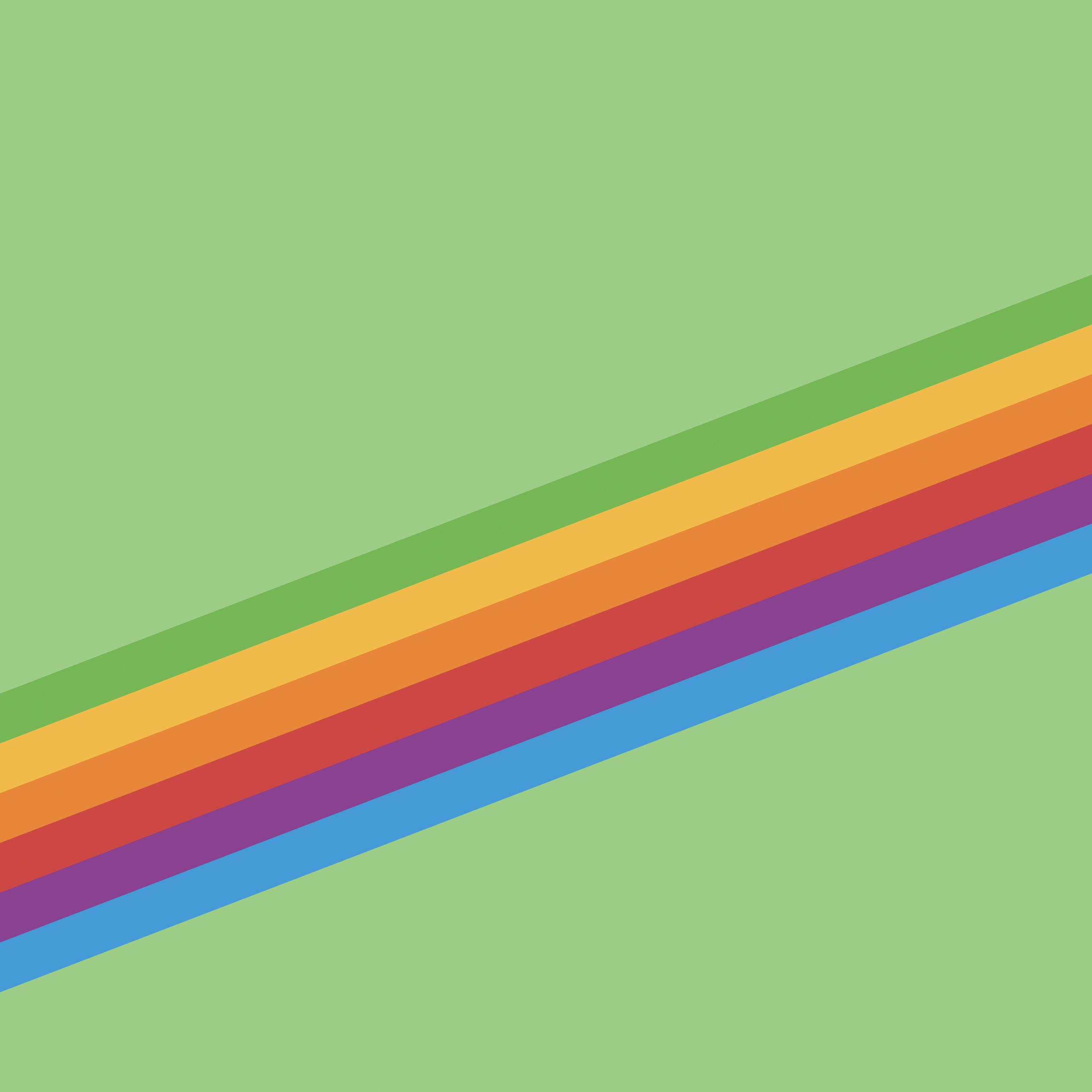 Heritage Stripe Green iOS 11 GM iPad wallpapers - Trọn bộ hình nền mới của iOS 11