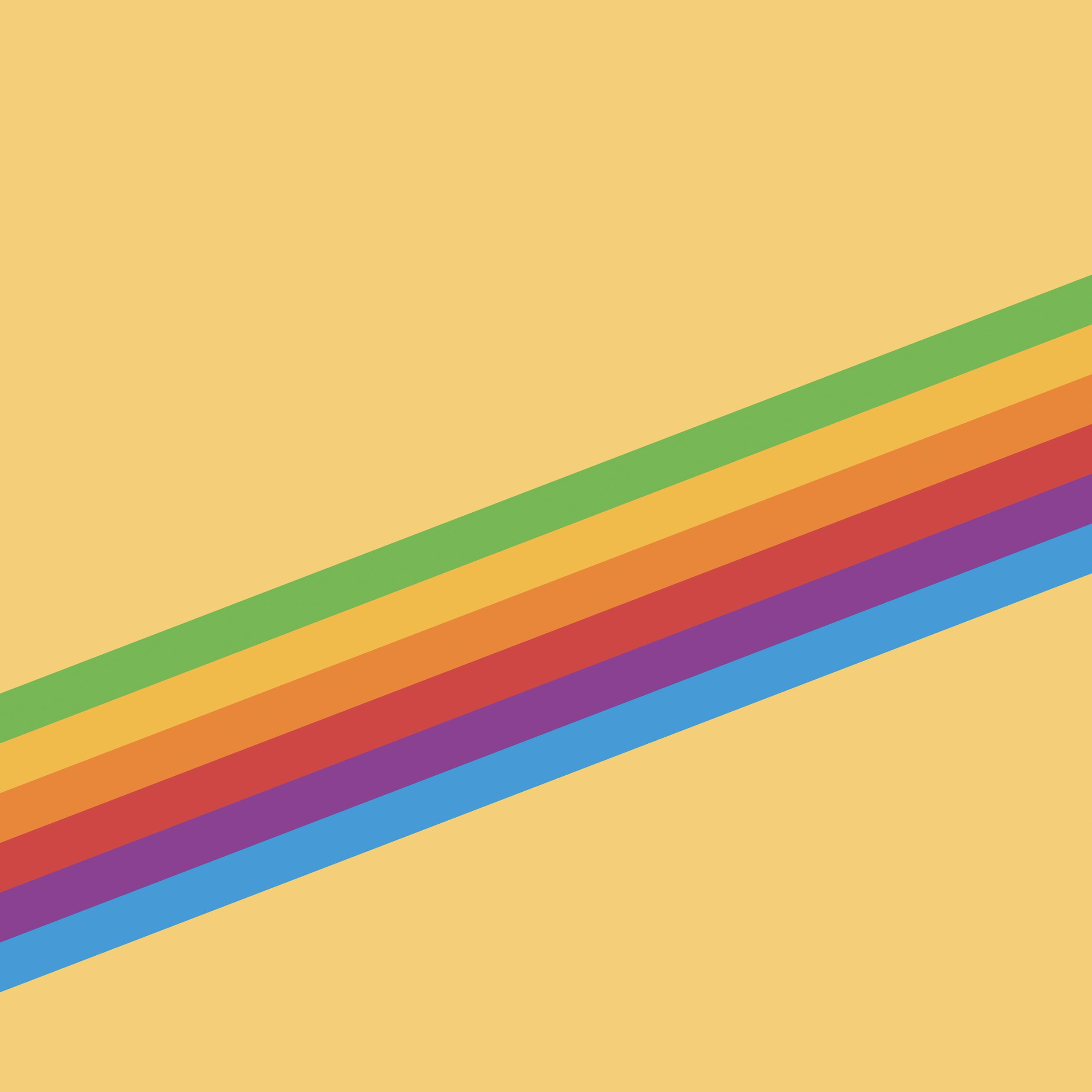 Heritage Stripe Yellow iOS 11 GM iPad wallpapers - Trọn bộ hình nền mới của iOS 11