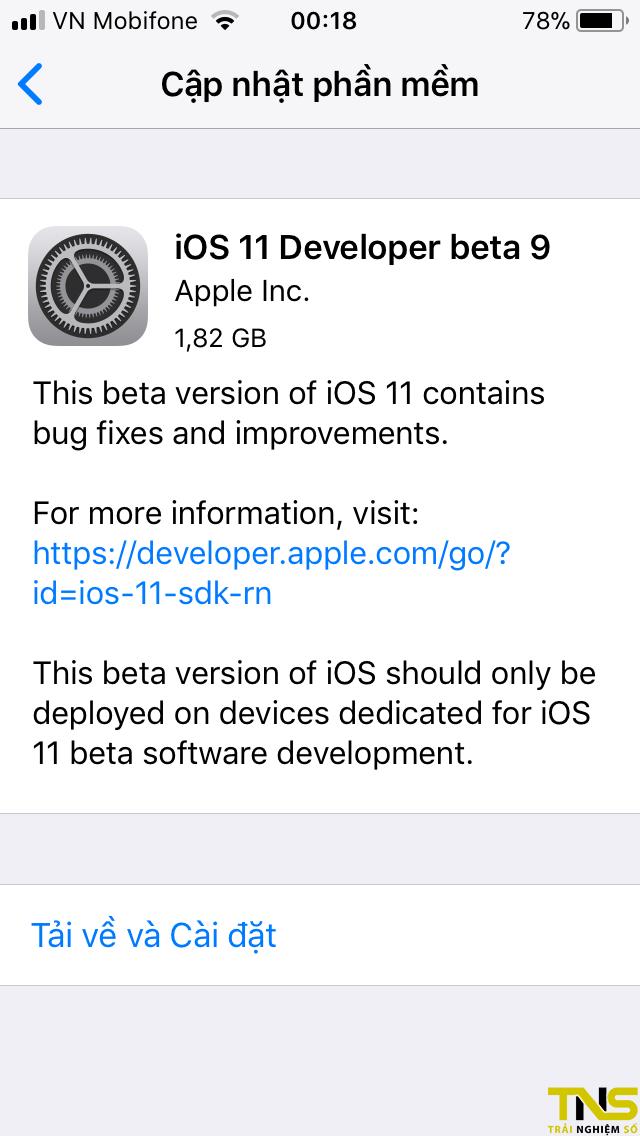 IMG 0314 - iOS 11 Beta 9 đã có thể tải về