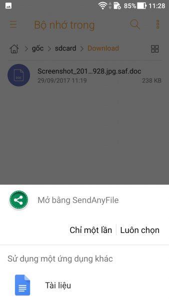 Screenshot 20170929 112821 338x600 - SendAnyFile: Chia sẻ file định dạng bất kỳ lên Messenger