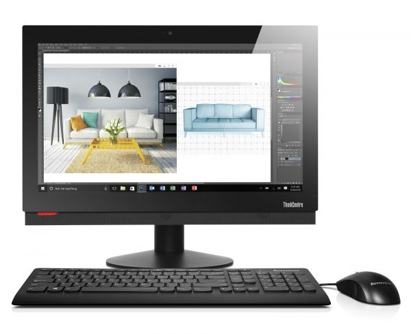 ThinkCentre AIO M810z Hero Shot 02 600x488 - Lenovo ra mắt bộ đôi máy tính để bàn ThinkCentre All in One