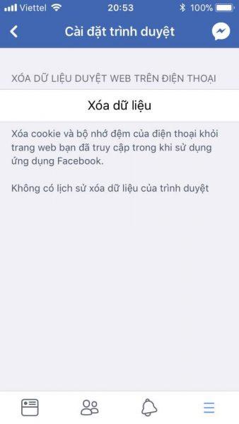 facebook clear cache data 2 338x600 - Cách xóa cache trình duyệt trên ứng dụng Facebook của điện thoại