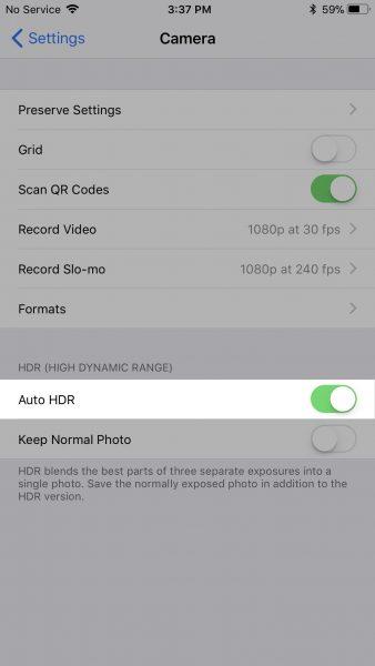ios 11 hdr 2 338x600 - Cách bật lại chế độ HDR trên iPhone 8 và iPhone 8 Plus