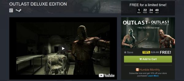Outlast free Humble Store