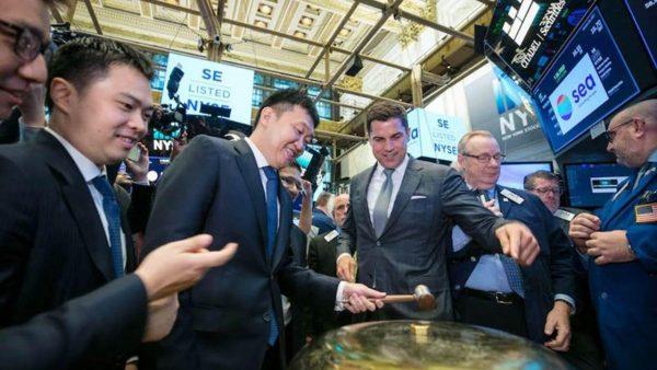 Sea vừa IPO thành công trên sàn New York 1