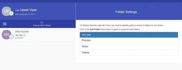 Feem - Chat và chia sẻ file không giới hạn