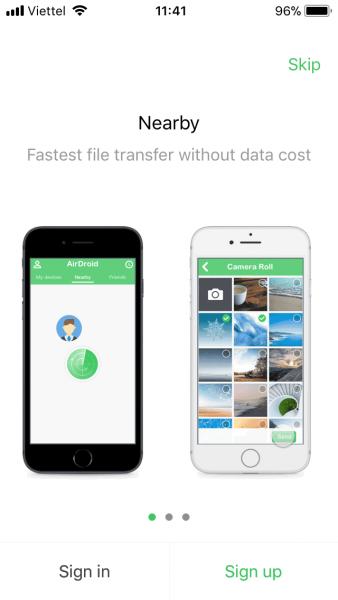 Airdroid cho iOS