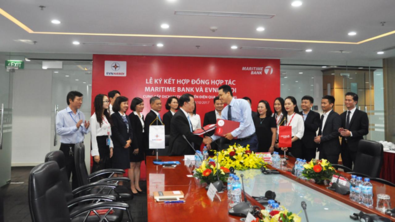 MSB EVN HN ky ket hop tac 1 - Maritime Bank triển khai dịch vụ thu hộ tiền điện trên địa bàn TP.Hà Nội