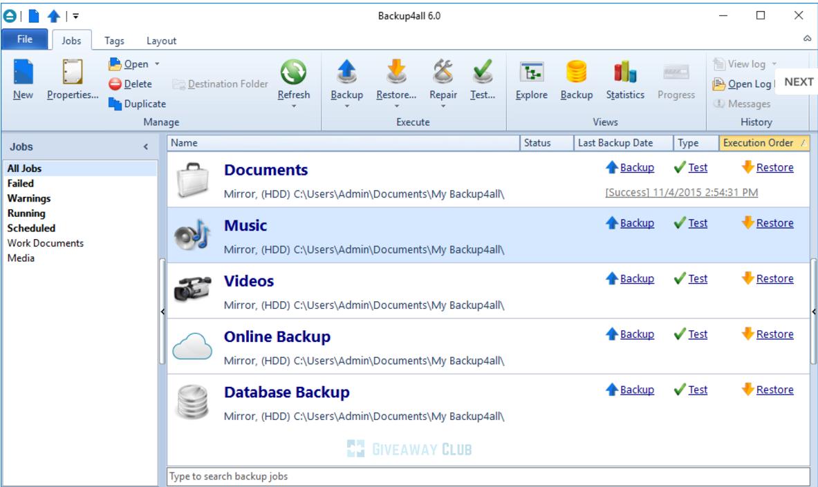 backup4all - Hai ứng dụng bảo vệ dữ liệu máy tính trị giá 60USD đang miễn phí