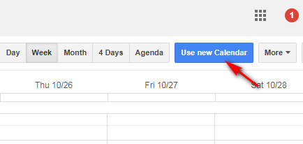 google calendar moi 1 - Cách bật giao diện Google Calendar mới