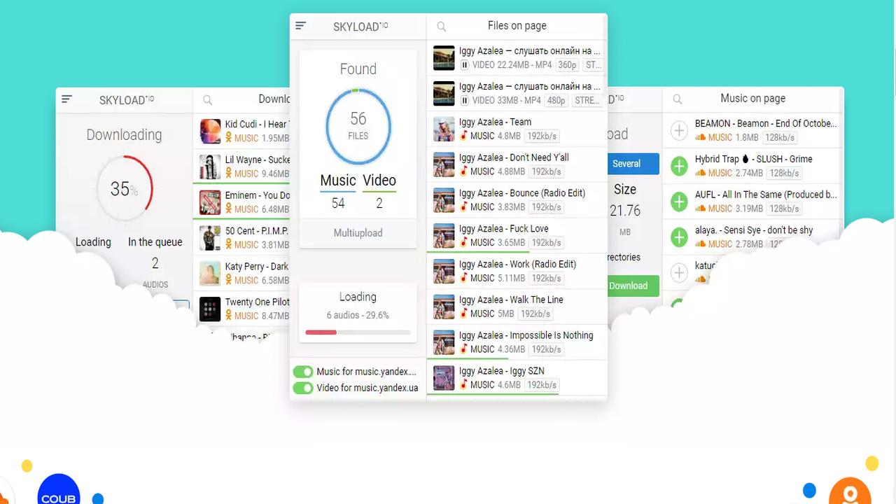 skyload - Skyload: Tiện ích trình duyệt giúp tải nhạc, video trên 99% trang web