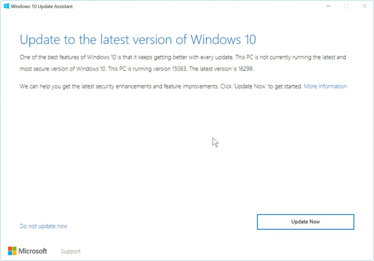 windows 10 fall creator update - Cách cập nhật Windows 10 FCU 1709 (Fall Creators Update) qua Windows Update