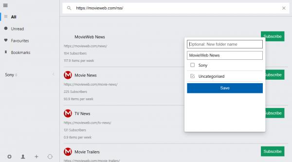 Veen Reader: Ứng dụng đọc tin RSS không quảng cáo trên Windows 10 4