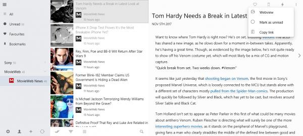 Veen Reader: Ứng dụng đọc tin RSS không quảng cáo trên Windows 10 2