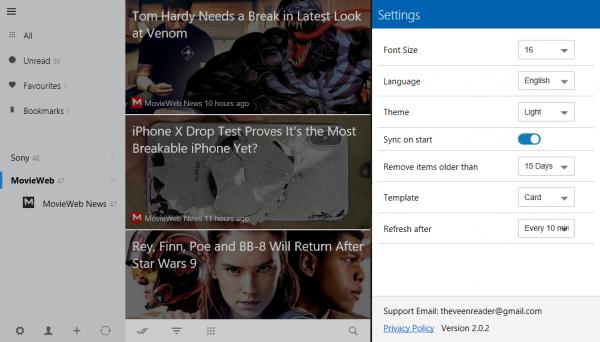 Veen Reader: Ứng dụng đọc tin RSS không quảng cáo trên Windows 10 6