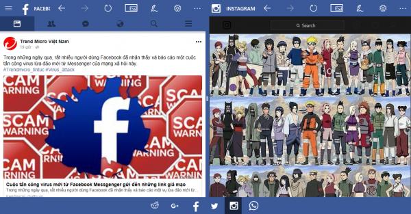 Socialize Up: Sử dụng nhiều mạng xã hội, chụp ảnh màn hình Win 10 5