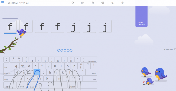 Cách luyện gõ 10 ngón online trên trình duyệt 4