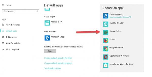 BrowserSelect - Chọn trình duyệt mặc định khi mở liên kết