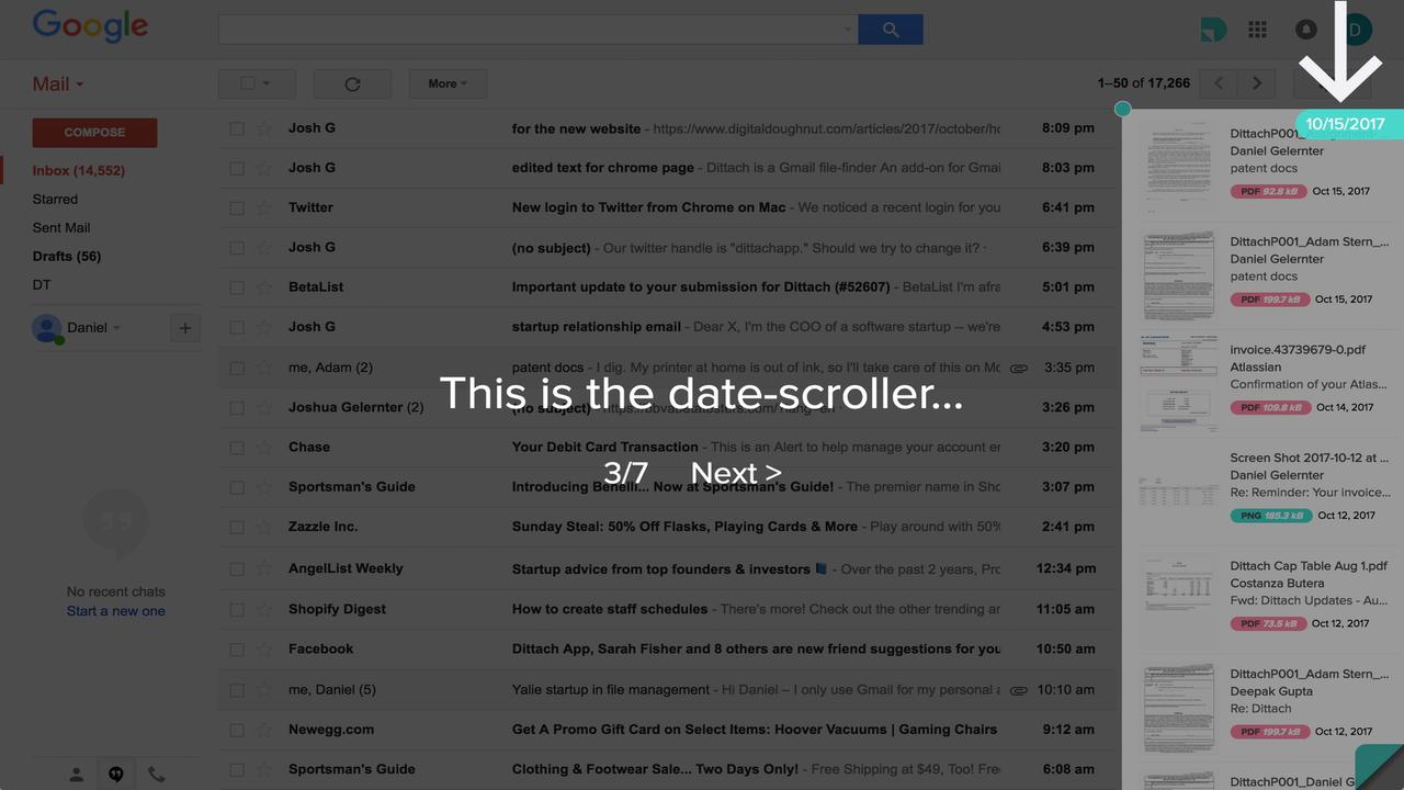 Dittach1280x720 - Dittach: Tiện ích Chrome giúp tìm kiếm, tải file đính kèm trên Gmail