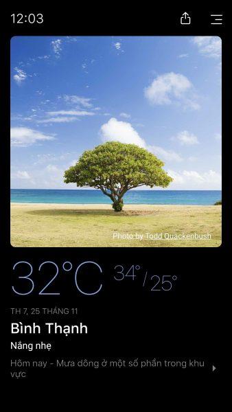 Xem dự báo thời tiết hôm nay trên Android với Today Weather