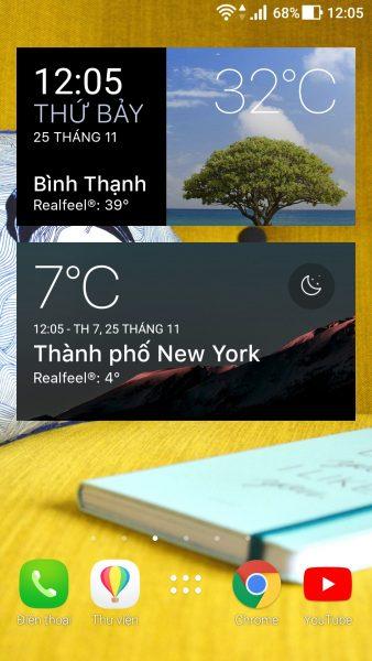Screenshot 20171125 120513 338x600 - Xem dự báo thời tiết hôm nay trên Android với Today Weather