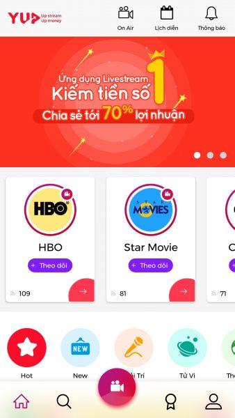 Screenshot 20171130 092435 338x600 - Trải nghiệm YUP: Dịch vụ livestream kiếm tiền với 70% lợi nhuận