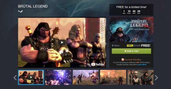 brutal legend free humble store 600x314 - Đang miễn phí game hành động phiêu lưu Brütal Legend