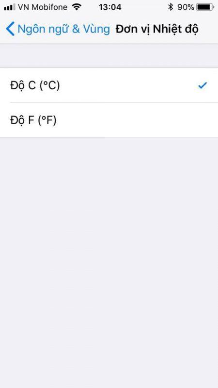doi do c sang do f ios 11 2 450x800 - Cách đổi từ độ F sang độ C trên iOS 12