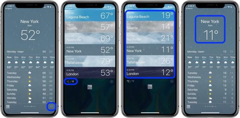 how to change fahrenheit celsius iphone 1 800x394 - Cách đổi từ độ F sang độ C trên iOS 12