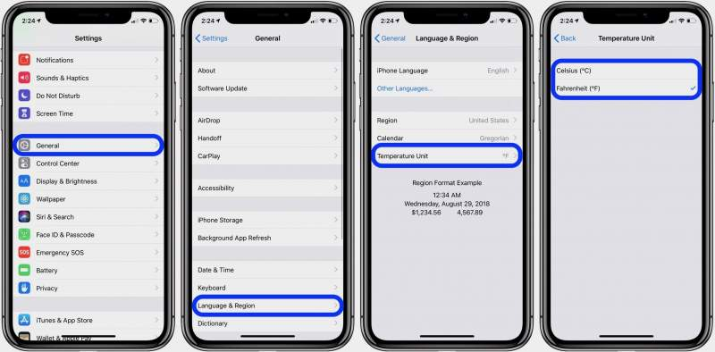 how to change fahrenheit celsius iphone 2 800x394 - Cách đổi từ độ F sang độ C trên iOS 12