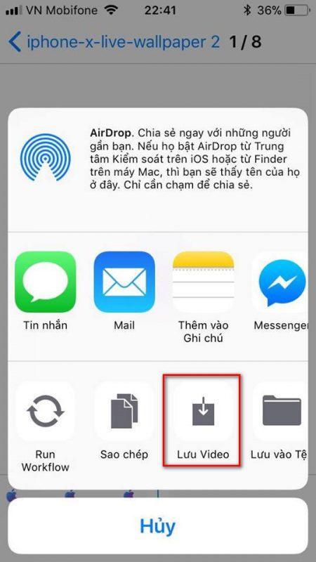 iphone x live wallpaper 6 450x800 - Cách đưa kho hình động độc quyền iPhone X lên điện thoại iPhone khác
