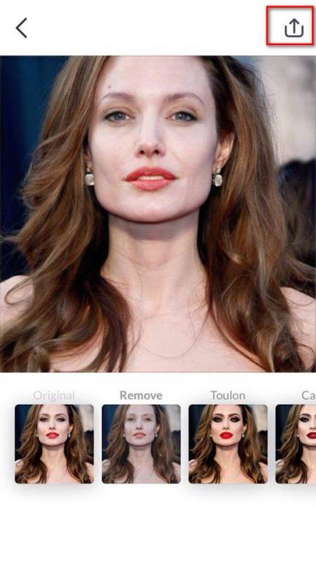 """makeapp 3 450x800 - Hài hước ứng dụng biến khuôn mặt trang điểm thành mặt """"mộc"""""""