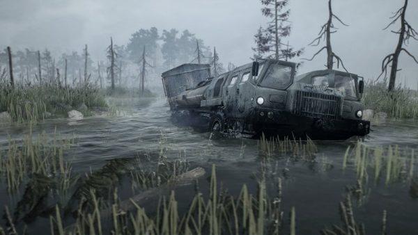 spintires mudrunner screenshot 1 600x338 - Đánh giá Spintires: MudRunner - những chuyến hàng lầy lội