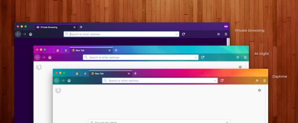 Firefox Quantum: Dùng thử theme đổi màu sắc tự động theo thời gian 1