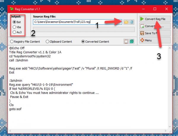 2017 12 22 14 11 36 600x459 - Reg Converter: Chuyển đổi Registry thành file BAT, VBS, AU3
