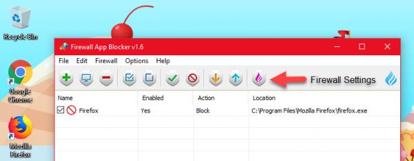 Firewall App Blocker: Tắt / mở Firewall cho từng ứng dụng Windows