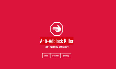 """Anti Adblock Killer 400x240 - Cách """"vượt rào"""" trên các trang web ghét tiện ích chặn quảng cáo"""