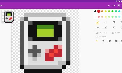 """Pixel Brush 400x240 - Tổng hợp những game """"thêu tranh chữ thập"""" Pixel Art trên Android"""