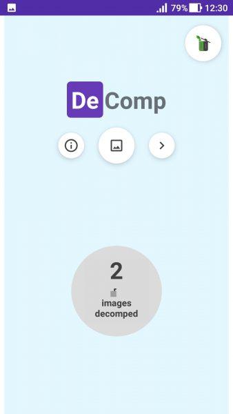 DeComp - Ứng dụng giảm dung lượng ảnh trên Android